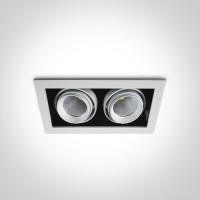 Prekybinų plotų šviestuvas The COB Square Downlights 51209B/W/W